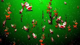 Christmas 06 santa reindeer Stock Video Footage