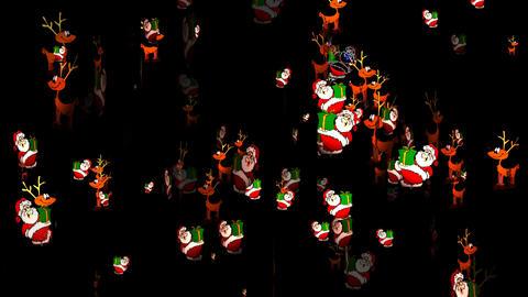 Christmas 08 alpha santa reindeer Stock Video Footage