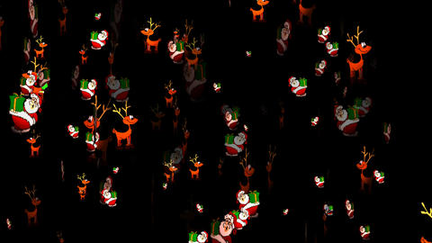 Christmas 08 alpha santa reindeer Stock Video Footage
