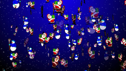 Christmas 10 santa snowmen Animation