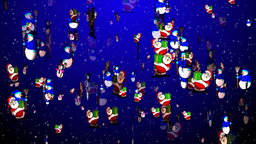 Christmas 10 santa snowmen Stock Video Footage