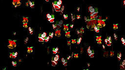 Christmas 14 alpha santa bell Stock Video Footage