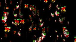 Christmas 14 alpha santa bell Stock Video Footage