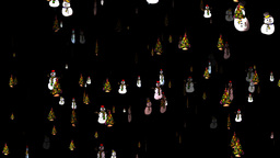 Christmas 20 alpha tree snowmen Stock Video Footage