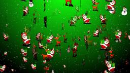 Christmas 24 reindeers santa snowman Stock Video Footage