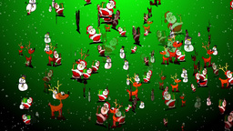 Christmas 24 reindeers santa snowman Stock Video Footage