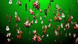 Christmas 24 reindeers santa snowman Animation