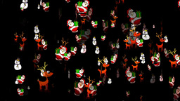 Christmas 26 alpha reindeer santa snowman Stock Video Footage