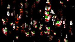 Christmas 26 alpha reindeer santa snowman Stock Video Footage