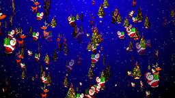 Christmas 28 reindeer santa tree Stock Video Footage