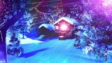 Christmas Snowy Scene Dolly 07 stock footage