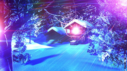 Christmas Snowy Scene dolly 07 Stock Video Footage