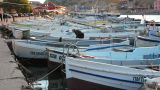 Bay With Boats stock footage