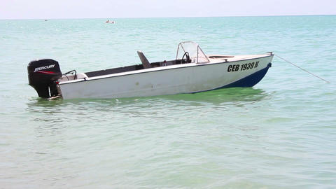 Motorboat on the sea Live Action