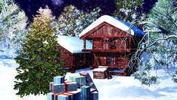 Christmas Snowy Scene 08 snowing neutral Animation