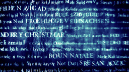 Merry Christmas MultiLingual Design v1 03 Stock Video Footage