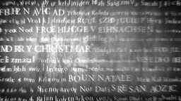 Merry Christmas MultiLingual Design v1 07 Stock Video Footage