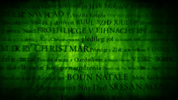 Merry Christmas MultiLingual Design v2 02 Stock Video Footage