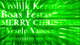Merry Christmas MultiLingual Design v3 02 Stock Video Footage