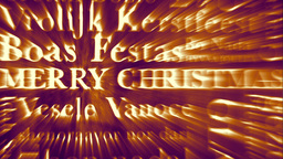 Merry Christmas MultiLingual Design v3 04 Stock Video Footage