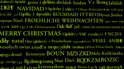 Merry Christmas MultiLingual Minimal Design 02 multicolor Stock Video Footage