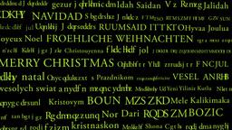 Merry Christmas MultiLingual Minimal Design 02 multicolor Stock Video Footage