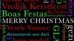 Merry Christmas MultiLingual Minimal Design 04 multicolor Stock Video Footage