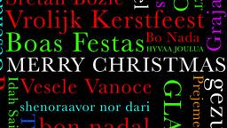Merry Christmas MultiLingual Minimal Design 04 multicolor Stock Video Footage
