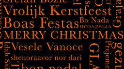 Merry Christmas MultiLingual Minimal Design 06 multicolor Stock Video Footage