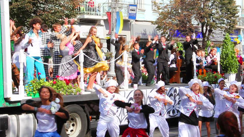 Carnival in city Stock Video Footage