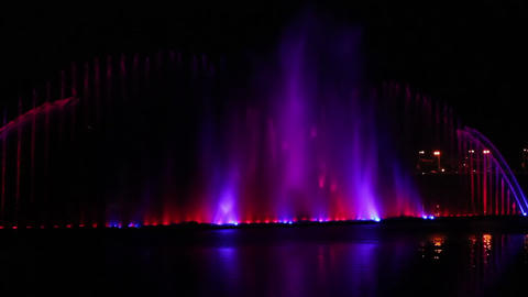 Musical Fountain 11 Stock Video Footage