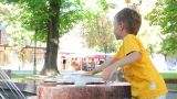 Children at the fountain 1 Footage