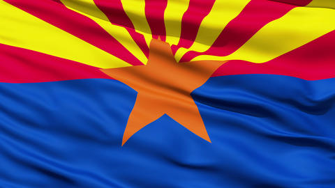 Waving Flag Of The US State of Arizona Stock Video Footage