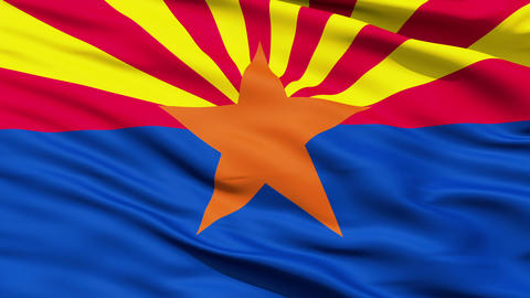 Waving Flag Of The US State Of Arizona stock footage