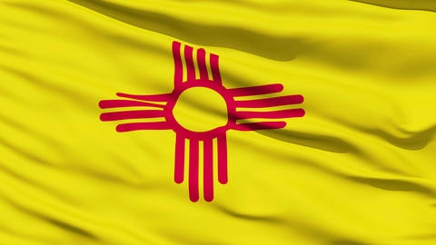 Waving Flag Of The US State Of New Mexico Stock Video Footage