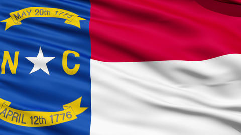 Waving Flag Of US State of North Carolina Stock Video Footage