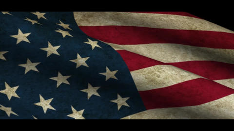 Grunge USA flag Animation