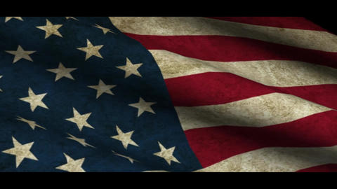 Grunge USA flag Stock Video Footage
