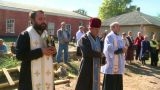 Prayer Priests 1 stock footage