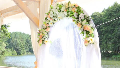 Wedding decoration 3 Stock Video Footage