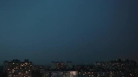 Lightning strike on dark stormy night Footage