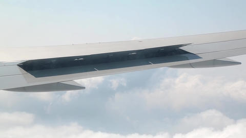 Lowering Of The Aileron Wing stock footage