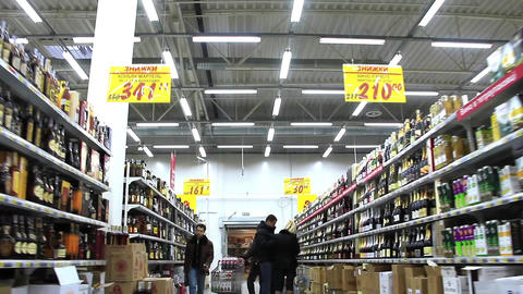Buyers in supermarket Live Action