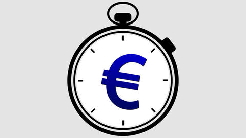 Stopwatch Euro Symbol Rotating Animation