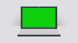 Notebook With Green Screen - Flat Design stock footage