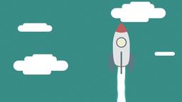 Rocket Launch - Flat Design Animation