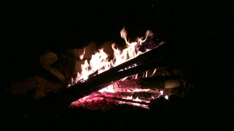 (timelapse ) Campfire Burning Fast stock footage