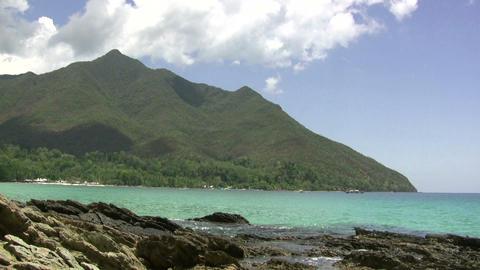 (timelapse ) tropical paradise mountain sea philip Footage