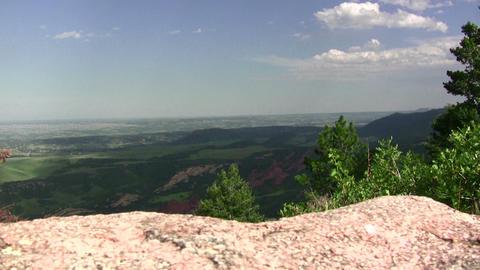 (timelapse) Overlooking Front Range Colorado stock footage
