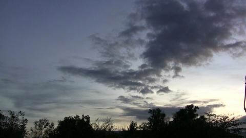 (timelapse ) dark dawn clouds over asian sky Footage